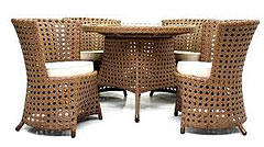 rattan wicker table and chairs