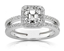 vCubic Zirconia Engagement Ring